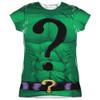 Front image for Batman Girls T-Shirt - Sublimated Riddler Uniform
