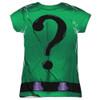 Back image for Batman Girls T-Shirt - Sublimated Riddler Uniform