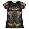 Front image for Aquaman Girls T-Shirt - Sublimated JLA Movie Uniform