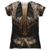 Back image for Aquaman Girls T-Shirt - Sublimated JLA Movie Uniform