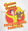 Image Closeup for Curious George Friends are Forever Long Sleeve T-Shirt