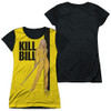 Image for Kill Bill Girls Sublimated T-Shirt - Poster Black Back