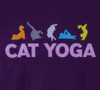 Image Closeup for Cat Yoga T-Shirt