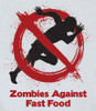 Image Closeup for Zombie T-Shirt - Zombies Against Fast Food
