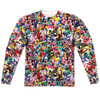 Front image for Mighty Morphin Power Rangers Sublimated Long Sleeve - Crowd of Rangers