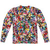 Back image for Mighty Morphin Power Rangers Sublimated Long Sleeve - Crowd of Rangers