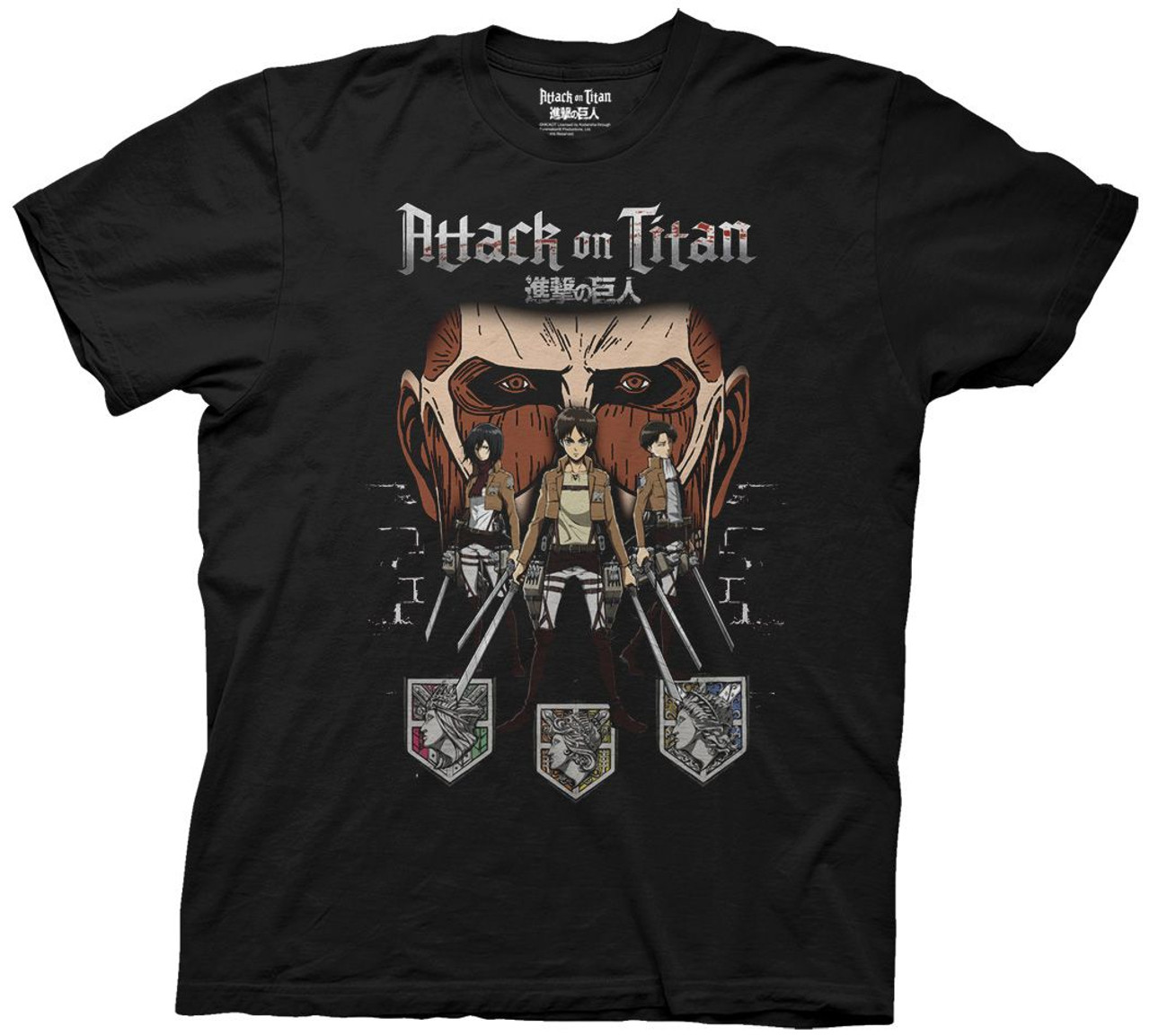attack on titan t shirt
