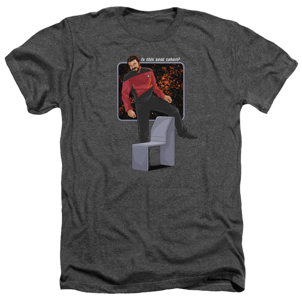 Star Trek Next Generation Picard LOCUTUS OF BORG Heather T-Shirt All Sizes