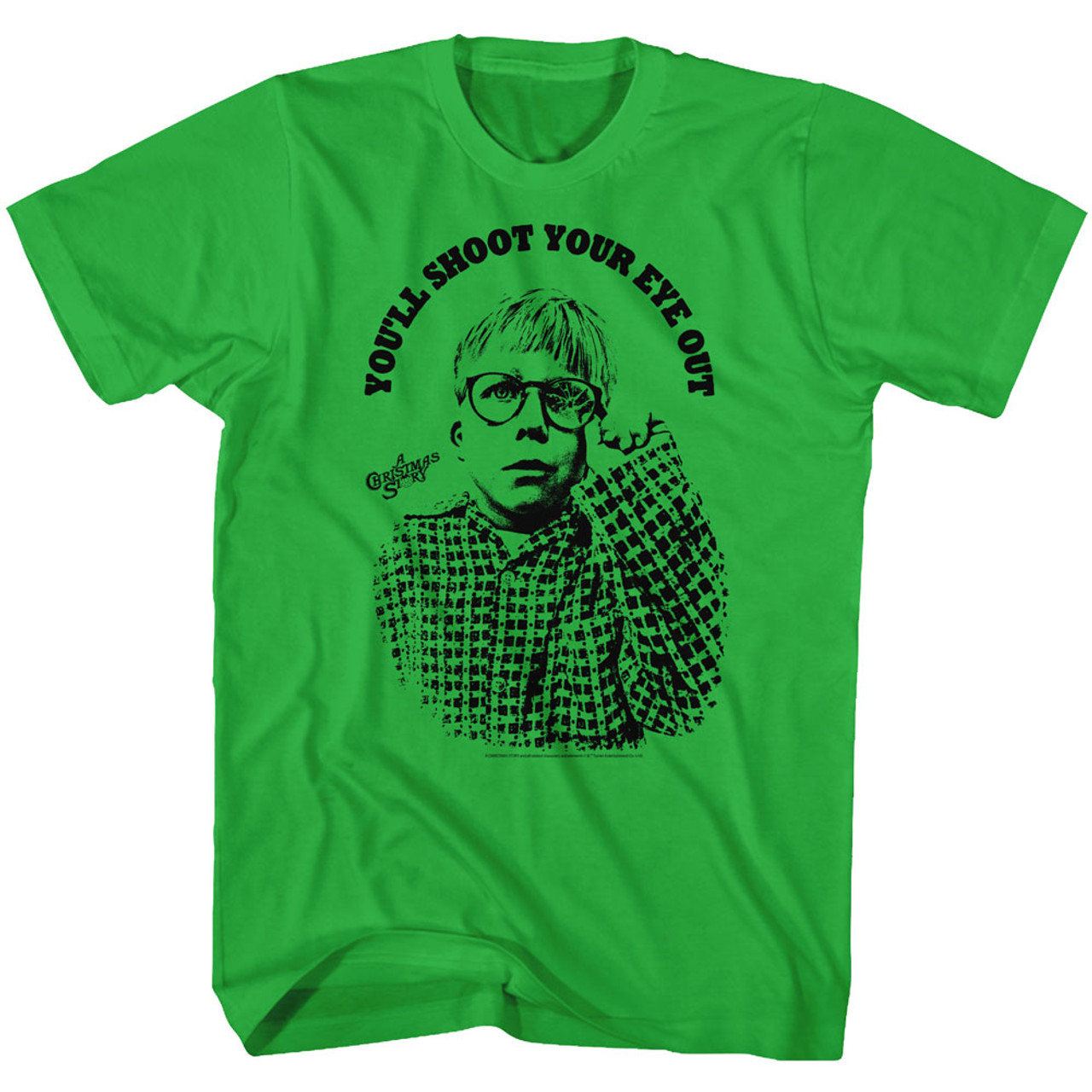 5//6 7 A Christmas Story Movie YOU/'LL SHOOT YOUR EYE OUT KID Shirt KIDS Sizes 4