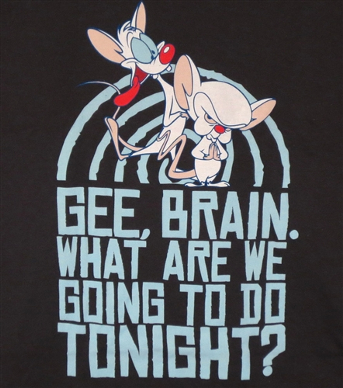 Pinky And The Brain T Shirt Mens Tee Take Over The World Gift New From US