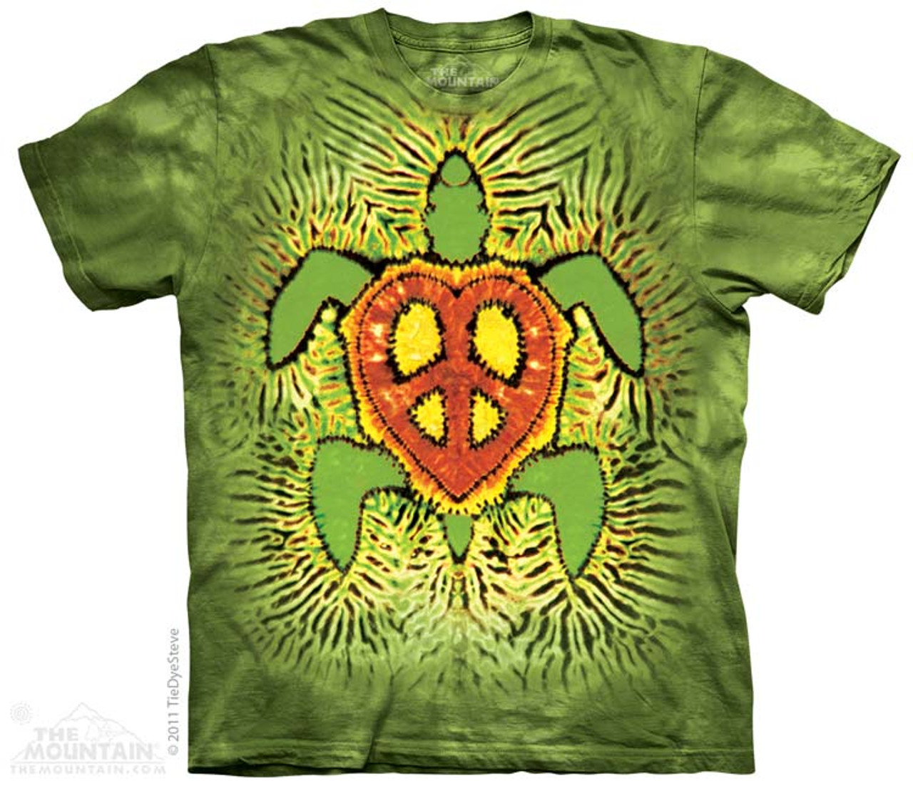 All Sizes 3090 Tie Dye Peace Symbol The Mountain T-Shirt