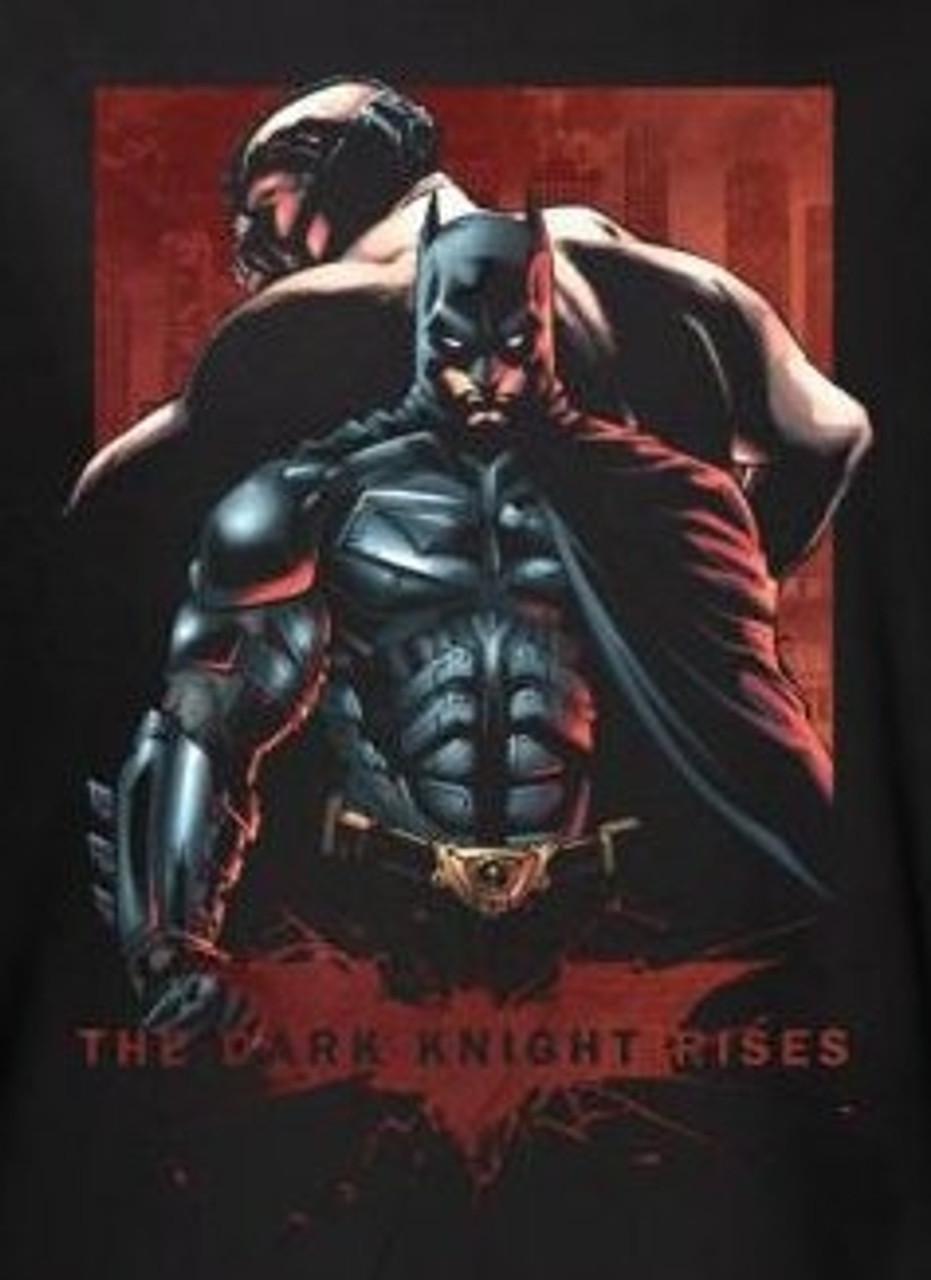 The Dark Knight Rises T Shirt Batman Bane Nerdkungfu