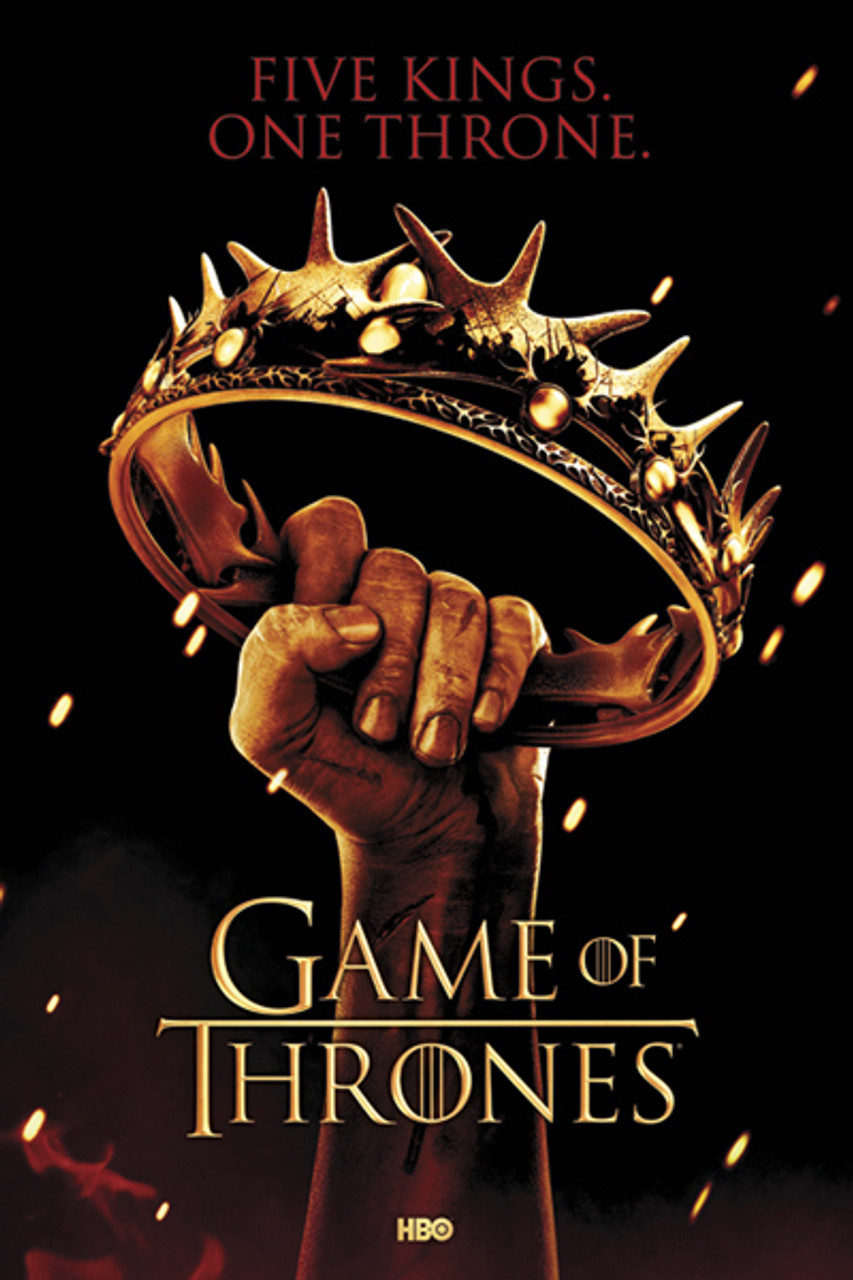 Game of Thrones Poster - Crown - NerdKungFu