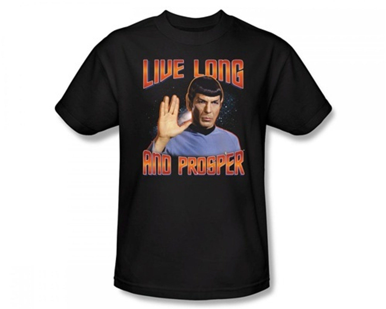 Live Long And Prosper TShirt Unisex Mens Star Trek Spock Captain Kirk Startrek