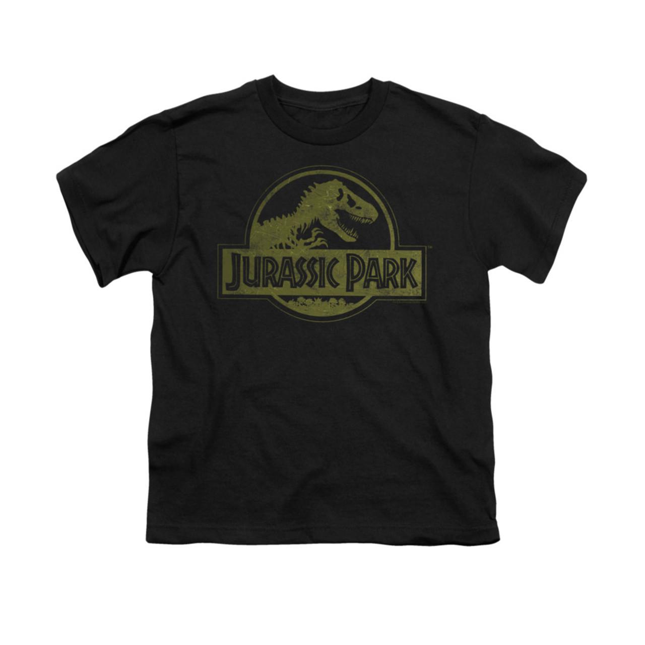 Jurassic Park Distressed Logo Youth T-shirt