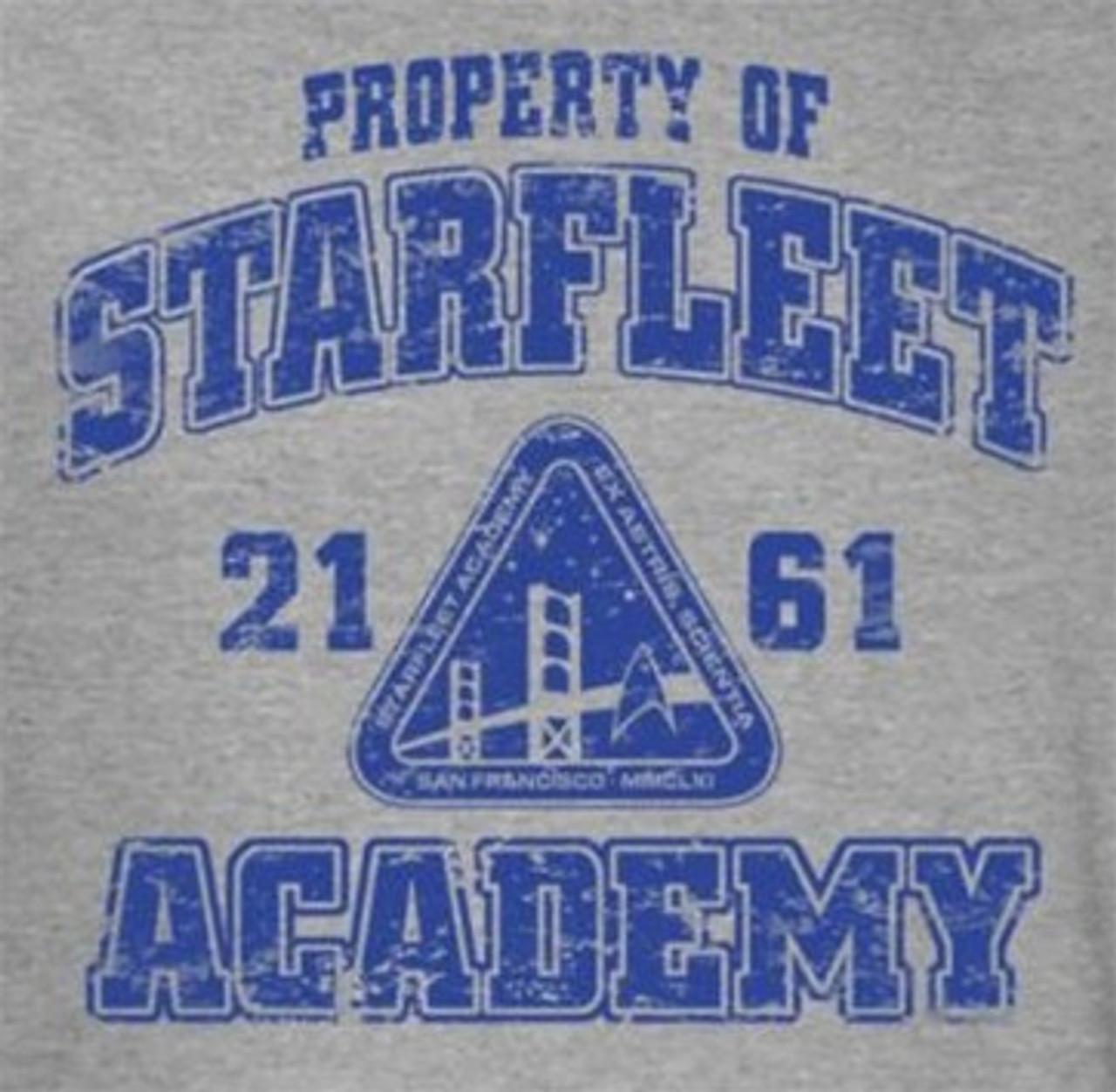 Star Trek STARFLEET ACADEMY EARTH Licensed Adult Heather T-Shirt All Sizes