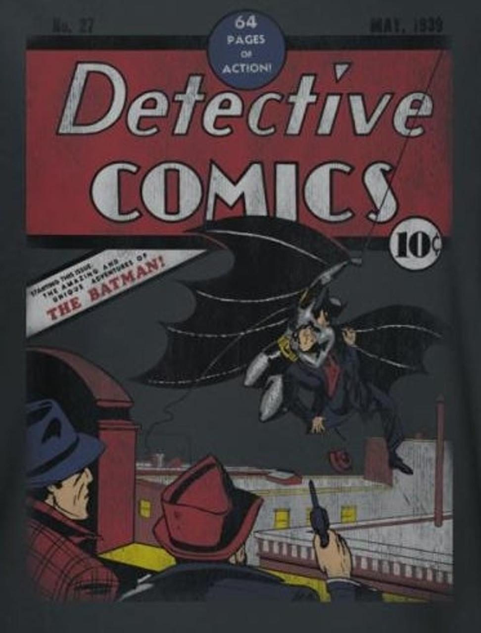 Batman DETECTIVE COMICS #27 Vintage Style Licensed Long Sleeve T-Shirt S-3XL