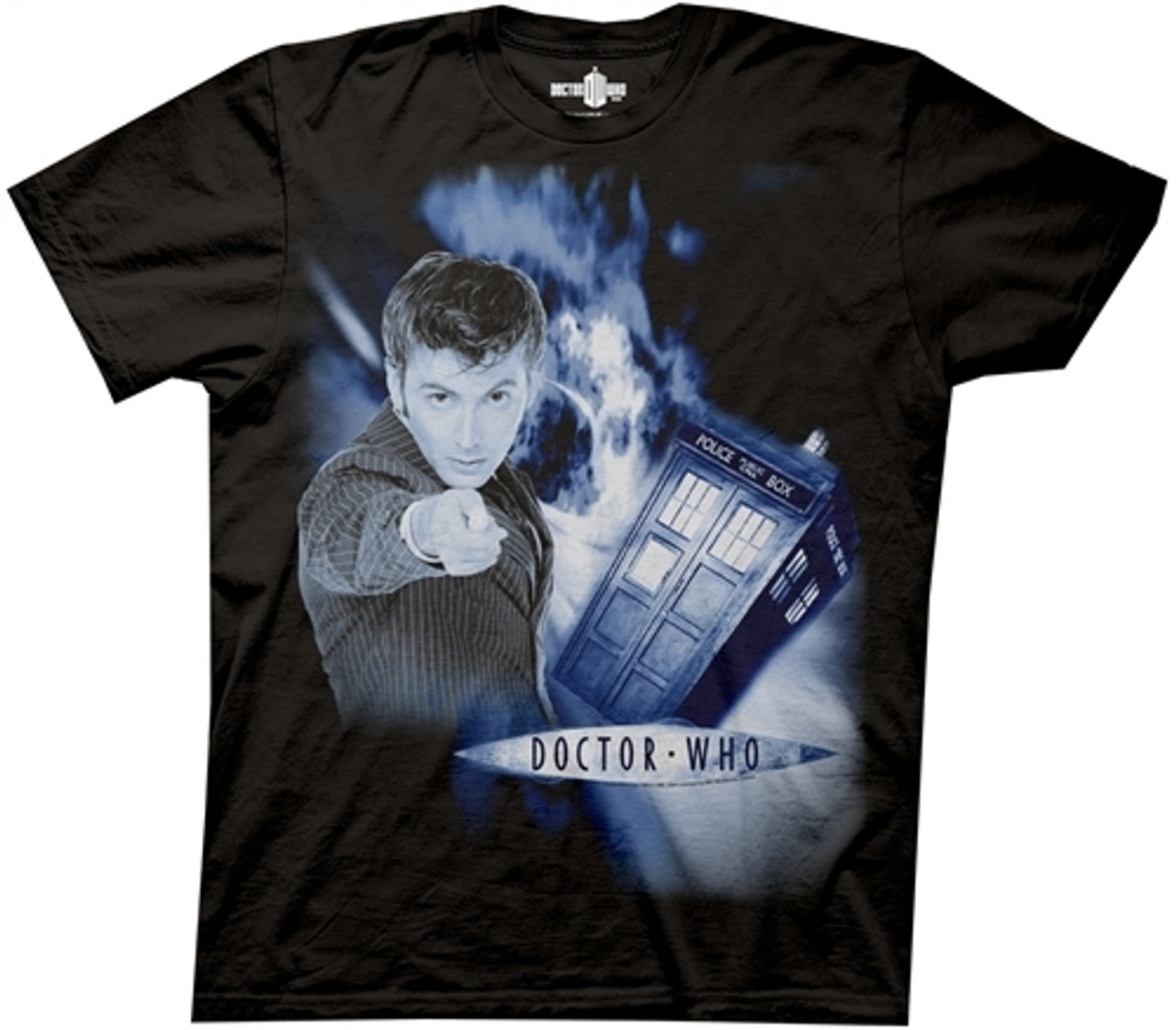 YOUTH L 14-16 David Tennant Hoodie The 10th Doctor Black