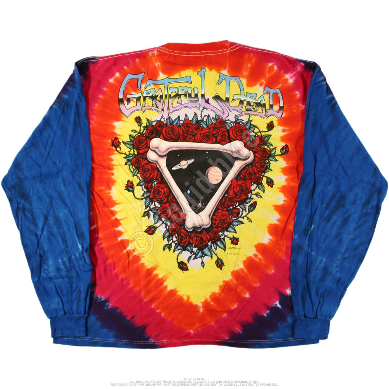 New GRATEFUL DEAD Space Your Face Long Sleeve Tie Dye T Shirt