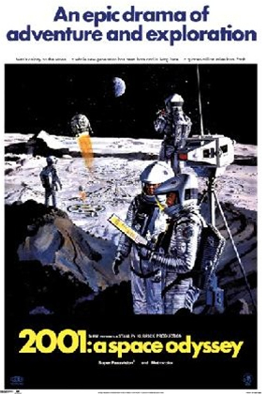 Movie poster for 2001 featuring characters on the moon