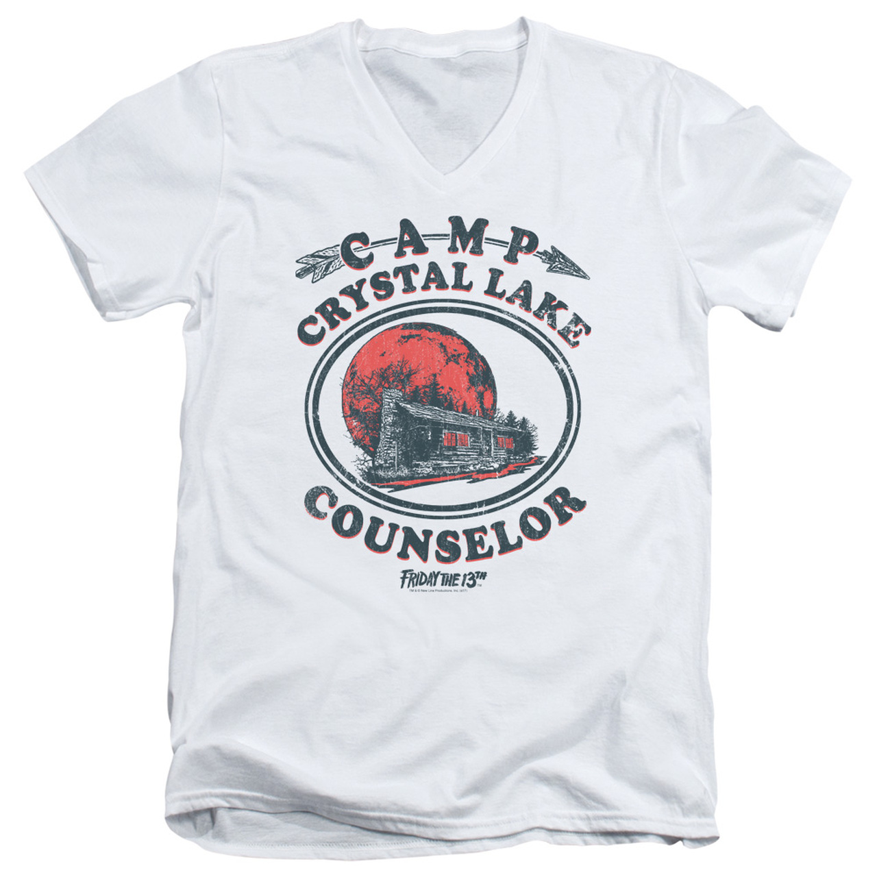 Friday the 13th Movie CAMP CRYSTAL LAKE COUNSELOR VICTIM Adult T-Shirt All Sizes