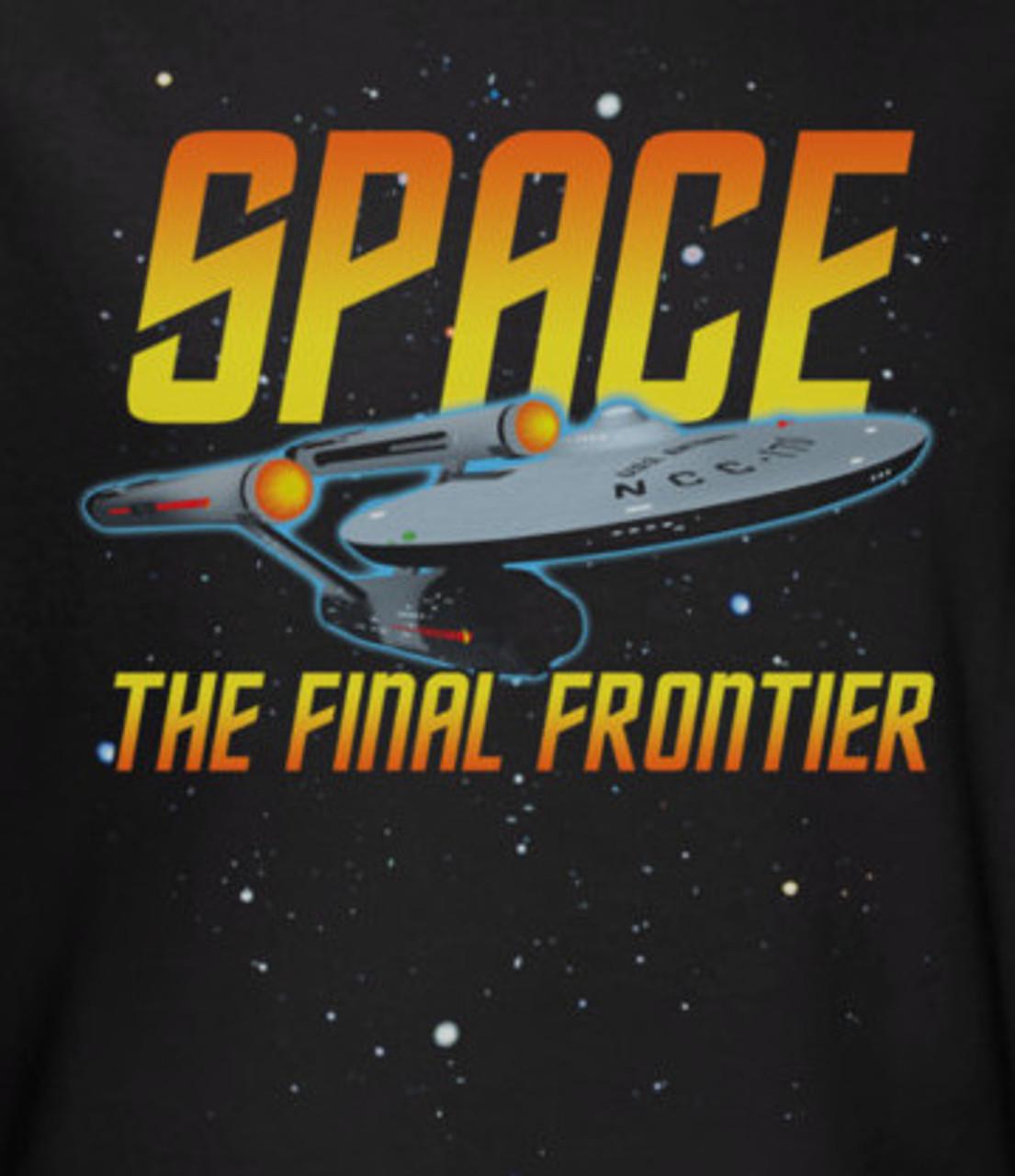 Star Trek Enterprise Space Final Frontier Licensed Sweatshirt Hoodie