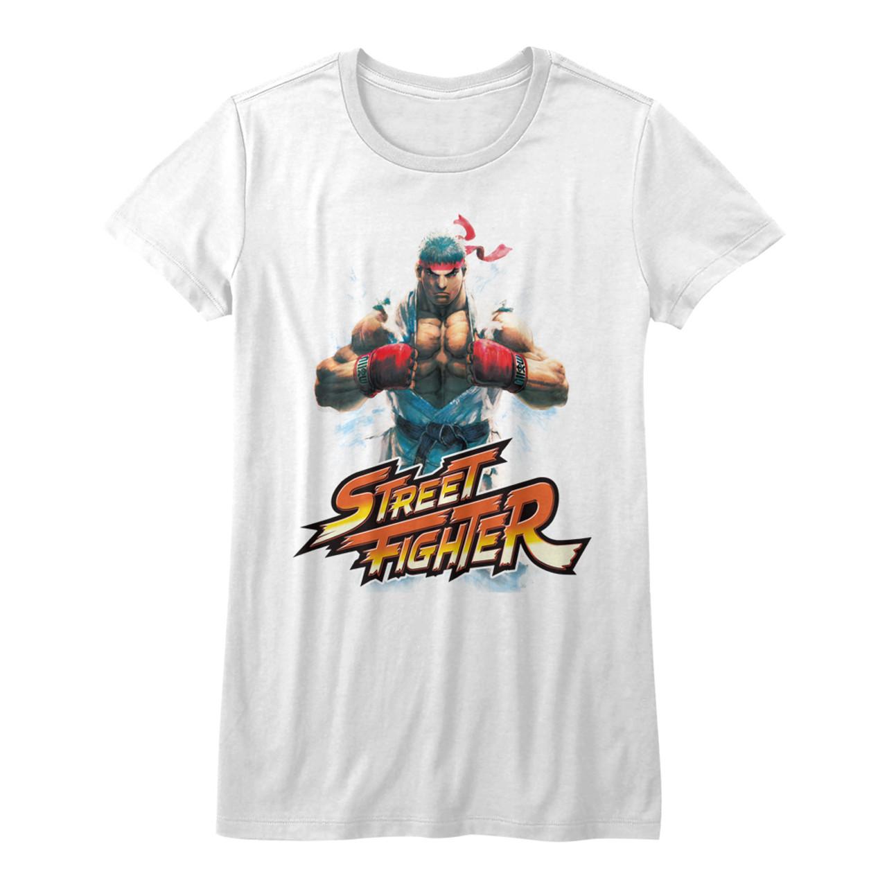 Street Fighter Girls T Shirt Ryu Chest Nerdkungfu