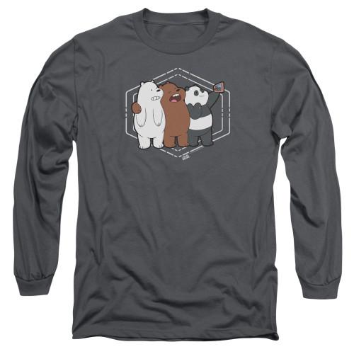 Image for We Bare Bears Long Sleeve Shirt - Selfie