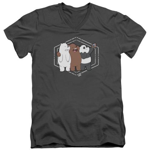 Image for We Bare Bears V Neck T-Shirt - Selfie