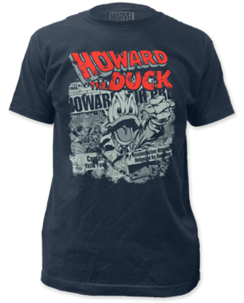 Image for Howard the Duck T-Shirt - Newspaper