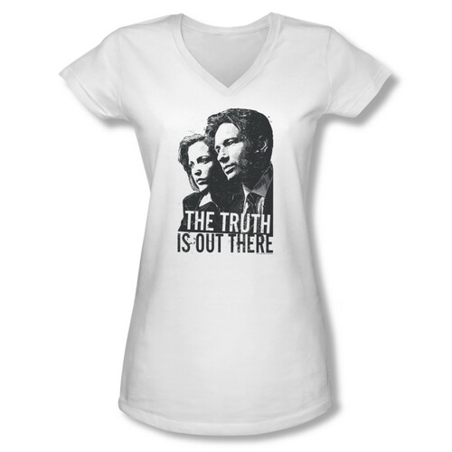 Image for X-Files Girls V Neck T-Shirt - The Truth is Out There