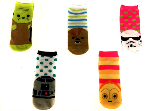 Image for Star Wars Cute Characters 5 Pack Low Cut Socks