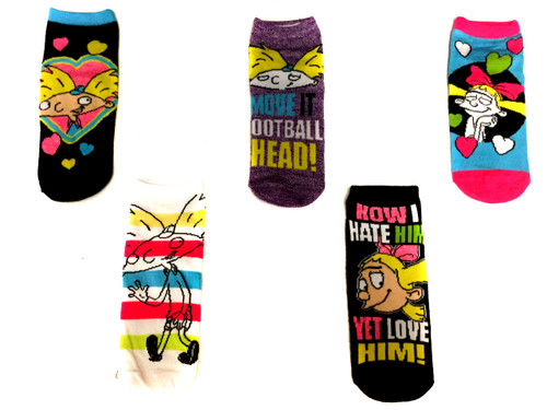 Image for Hey Arnold Characters 5 Pack Low Cut Socks