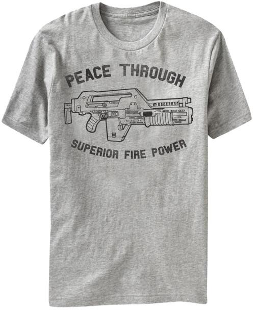 Alien T-Shirt - Peace Through Superior Firepower
