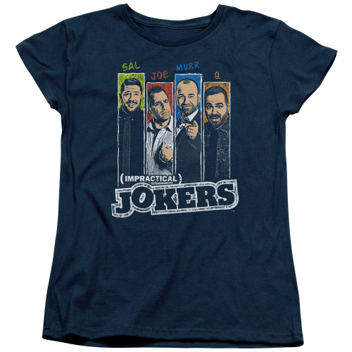 Image for Impractical Jokers Woman's T-Shirt - Slides