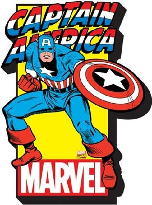 Image for Captain America with Logo Chunky Magnet