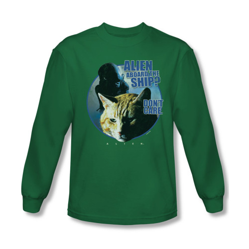 Image for Alien Long Sleeve T-Shirt - Jonesy Don't Care