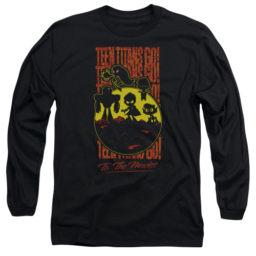 Image for Teen Titans Go! Long Sleeve T-Shirt - Go to the Movies Silhouette