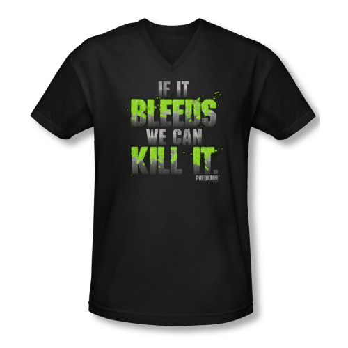Image for Predator T-Shirt - V Neck - If it bleeds we can kill it