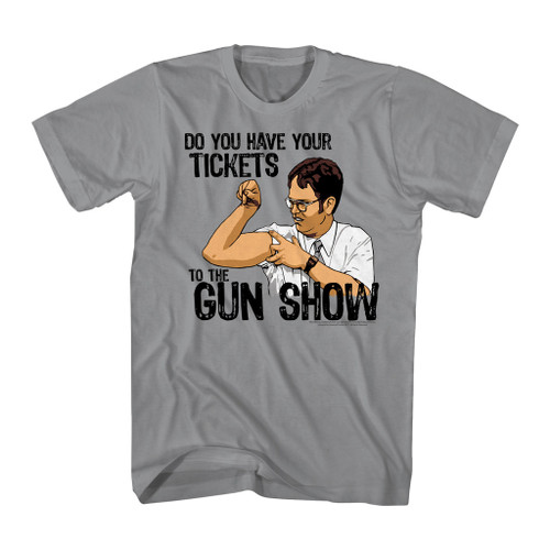 Image for The Office T-Shirt - Do You Have Your Tickets to the Gun Show?