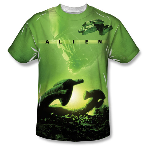 Image for Alien T-Shirt - Sublimated Ship 100% Polyester