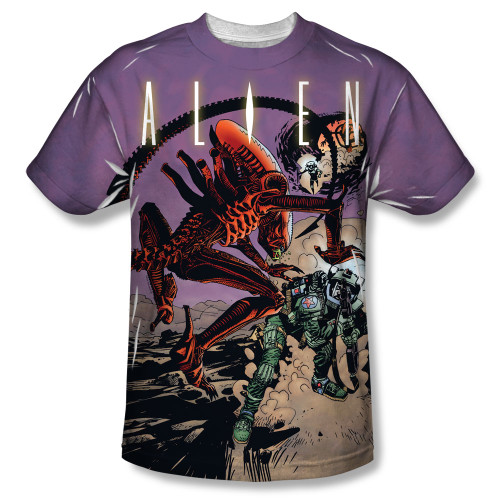 Image for Aliens T-Shirt - Sublimated Cartoon Ready or Not 100% Polyester