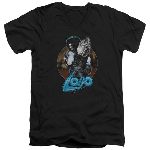Image for Lobo V-Neck T-Shirt - Lobo's Back