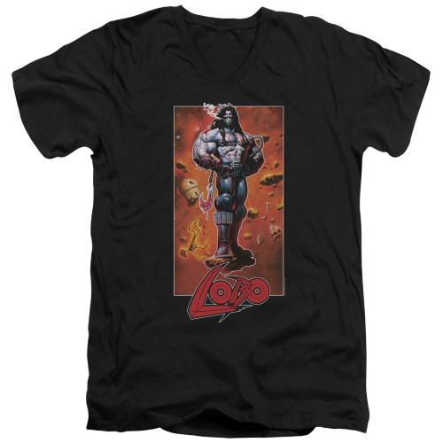 Image for Lobo V-Neck T-Shirt - Rock Pose