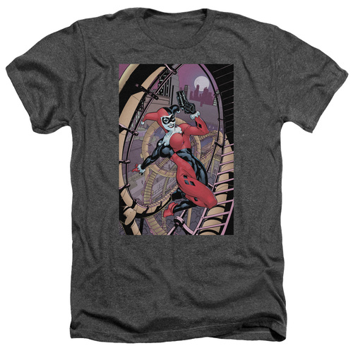 Image for Batman Heather T-Shirt - Harley First on Charcoal