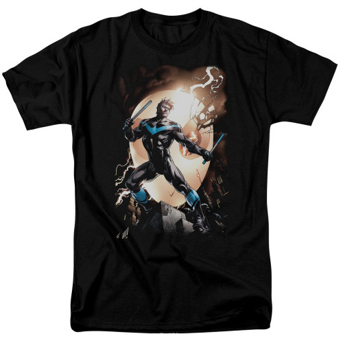 Image for Batman T-Shirt - Nightwing Against Owls