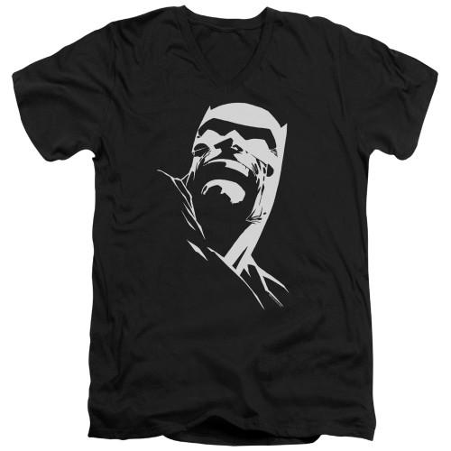 Image for Batman V-Neck T-Shirt - Contrast Profile Head