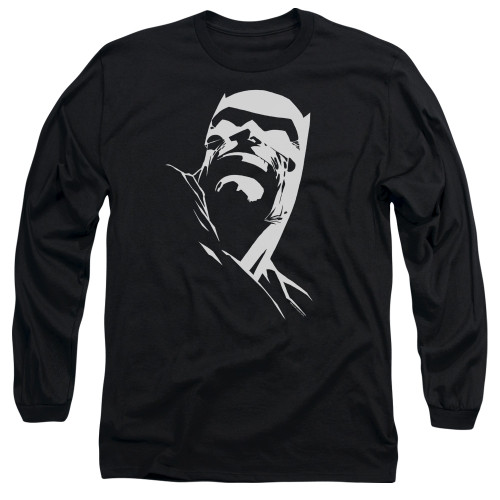 Image for Batman Long Sleeve T-Shirt - Contrast Profile Head