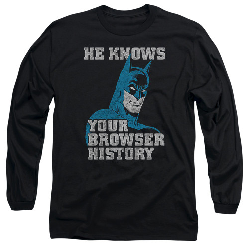 Image for Batman Long Sleeve T-Shirt - Batman Knows