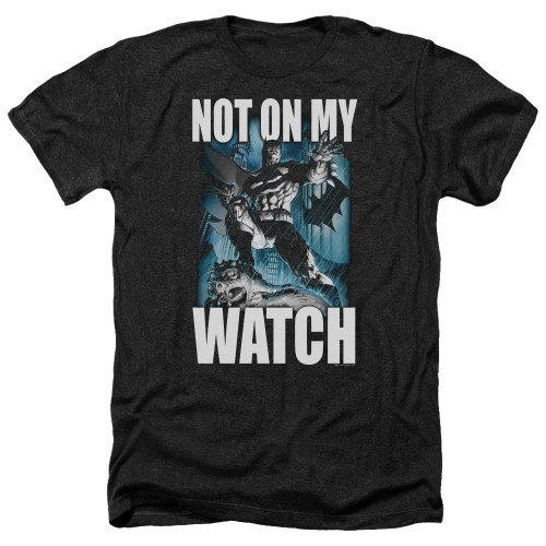 Image for Batman Heather T-Shirt - Not On My Watch